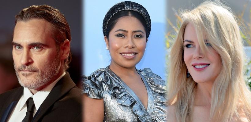 Yalitza Aparicio se codea con Joaquin Phoenix y Nicole Kidman y los fans celebran en redes sociales