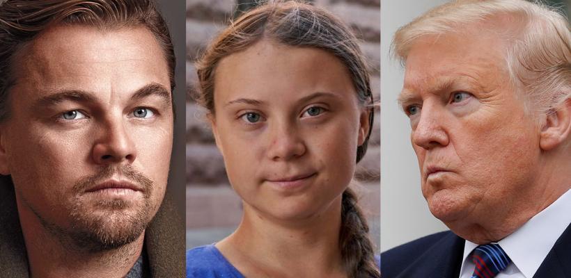 Leonardo DiCaprio defiende a Greta Thunberg del tuit ofensivo de Donald Trump