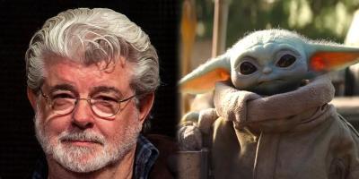 Star Wars: George Lucas carga a Baby Yoda y los fanáticos pierden la cabeza