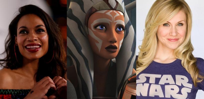 Star Wars: Actriz original de Ahsoka Tano lamenta que eligieran a Rosario Dawson y no a ella