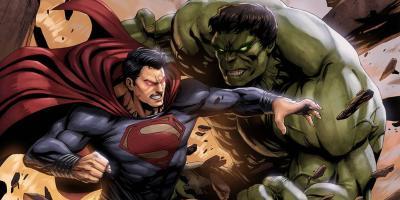 Hulk derrota a Superman en una página inédita del crossover DC vs. Marvel