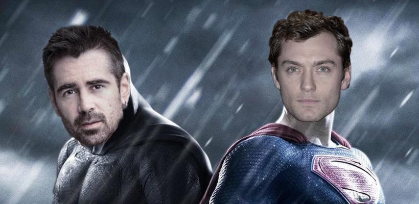 Primera película de Batman vs Superman iba a ser protagonizada por Colin Farrell y Jude Law