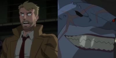 Justice League Dark: Apokolips War | La relación de Constantine y King Shark iba a ser más extensa en la película