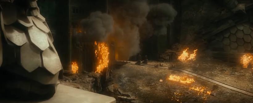 El Hobbit: Un Viaje Inesperado - Smaug invade Erebor