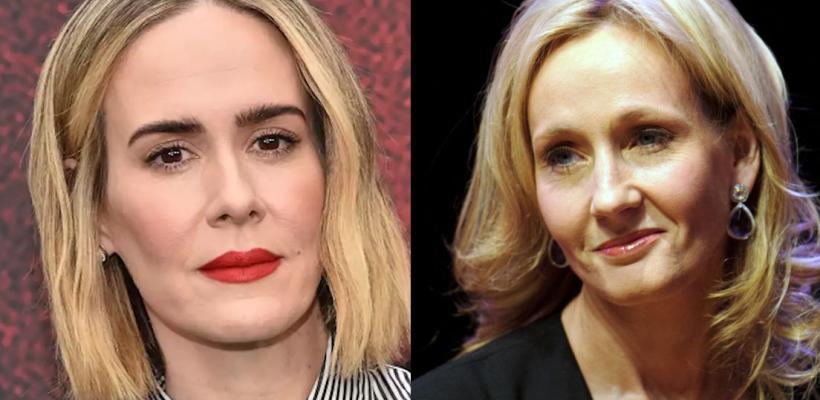Sarah Paulson explota contra J.K. Rowling por tuits transfóbicos