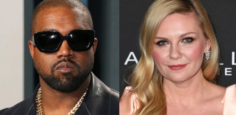 Kirsten Dunst arremete contra Kanye West por colocarla en el póster de su campaña presidencial sin permiso