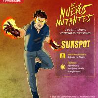 Sunspot es interpretado por Henry Zaga