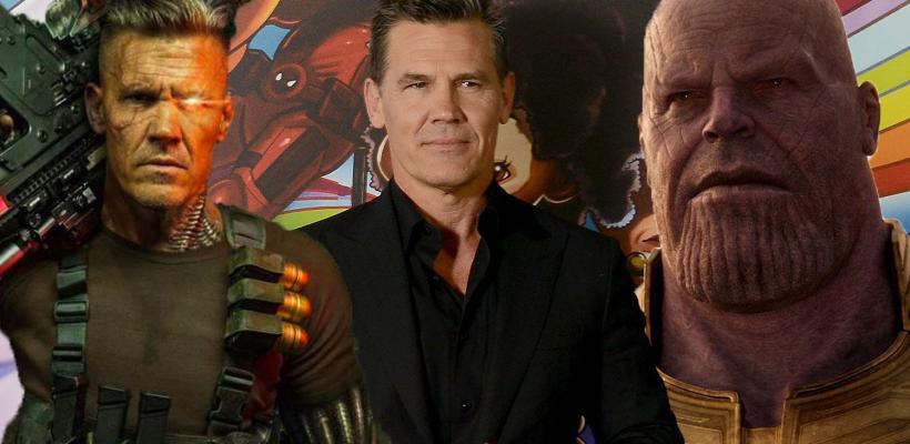 Josh Brolin revela que disfrutó más interpretar a Thanos en el MCU que a Cable en Deadpool 2