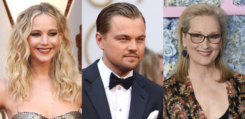 Leonardo DiCaprio, Meryl Streep y Jennifer Lawrence se unirán para salvar la Tierra de un asteroide