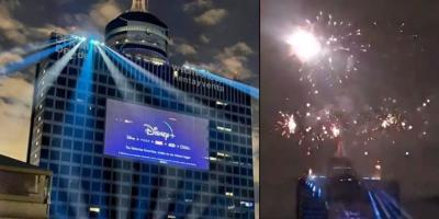 Habitantes de la CDMX se asustan por la pirotecnia lanzada por Disney + para celebrar su llegada a México