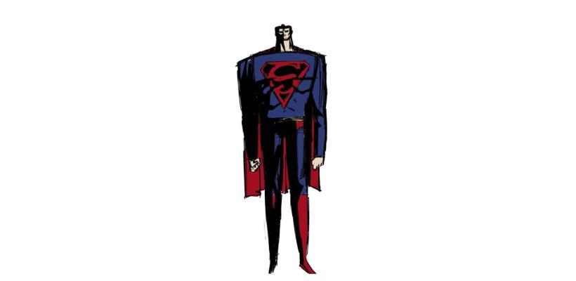 Creador de Samurai Jack comparte diseños para su serie de Superman