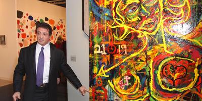 Sylverster Stallone muestra sus pinturas en Francia