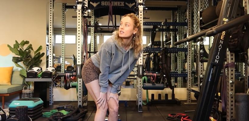 Brie Larson inicia su entrenamiento para Capitana Marvel 2 y presume su gimnasio personal