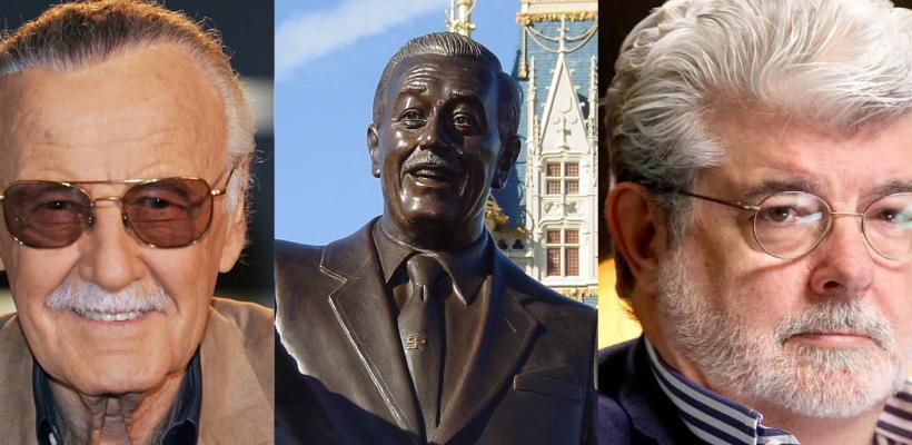 Piden que George Lucas y Stan Lee reemplacen las estatuas de Walt Disney en parques de diversiones