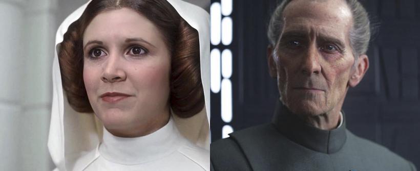 Rogue One: Una Historia de Star Wars - Comparativa CGI vs. Deepfake en Leia y Grand Moff Tarkin