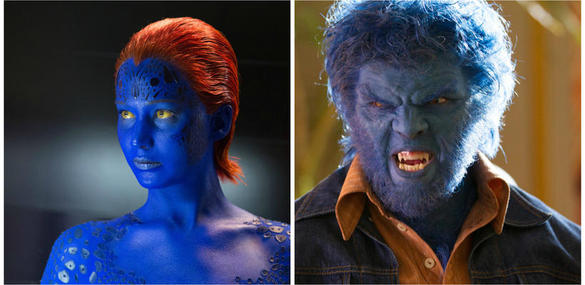 Jennifer Lawrence y Nicholas Hoult llegan al set de X-Men: Apocalipsis