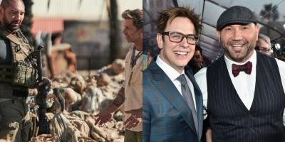 Dave Bautista dice que Zack Snyder es más flexible que James Gunn como director