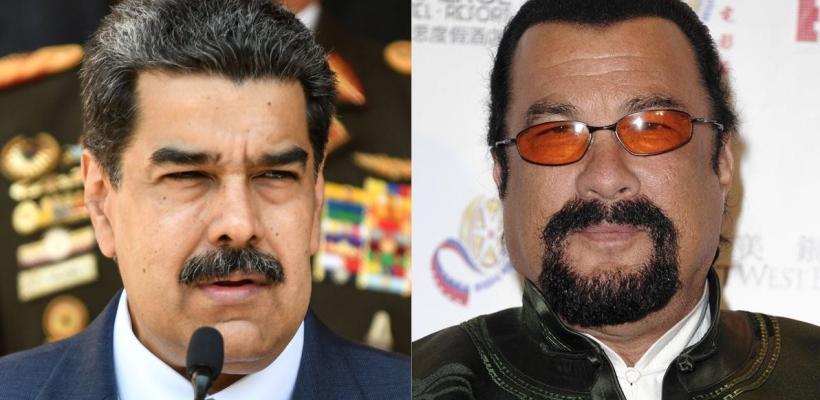 Steven Seagal es tendencia por visitar Venezuela y regalar una katana a Nicolás Maduro