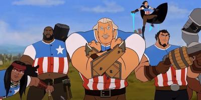 Estados Unidos: La película   Netflix lanza tráiler y nuevo póster de su película animada sobre la Revolución Estadounidense