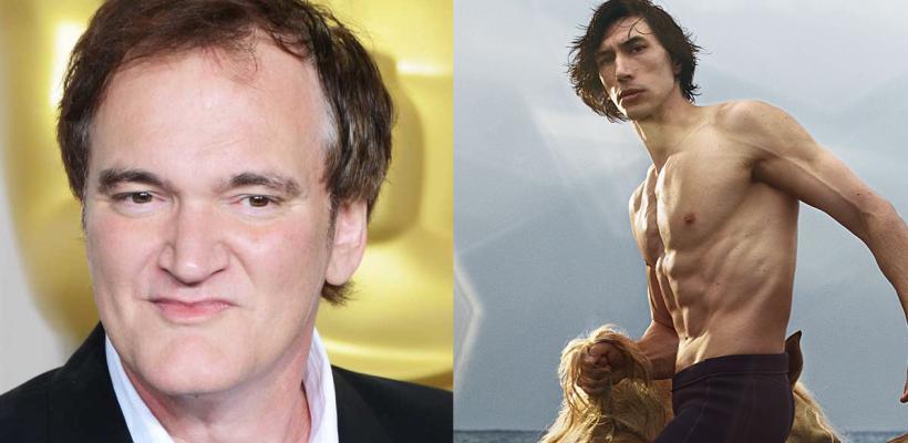 Quentin Tarantino dice que le gustaría hacer una película de Rambo con Adam Driver