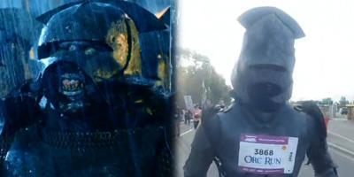 El Señor de los Anillos: fanático corre 10 km vestido como orco en un evento para la caridad