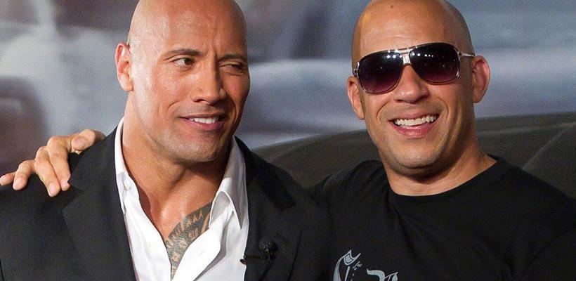 Dwayne Johnson dice que equipo de Rápidos y Furiosos le agradeció por poner a Vin Diesel en su lugar