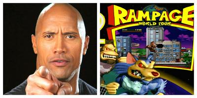 La Roca protagonizará la adaptación del videojuego Rampage