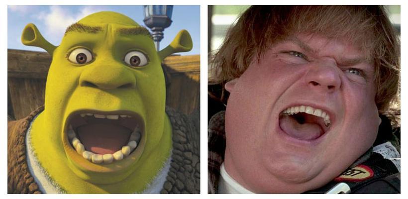 Así era el Shrek de Chris Farley