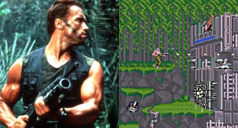 Depredador (1987) basado en Contra (1987). Las dos implican una misión en la selva, además de una amenaza alienígena y terminan con un rescate a través de helicóptero.
