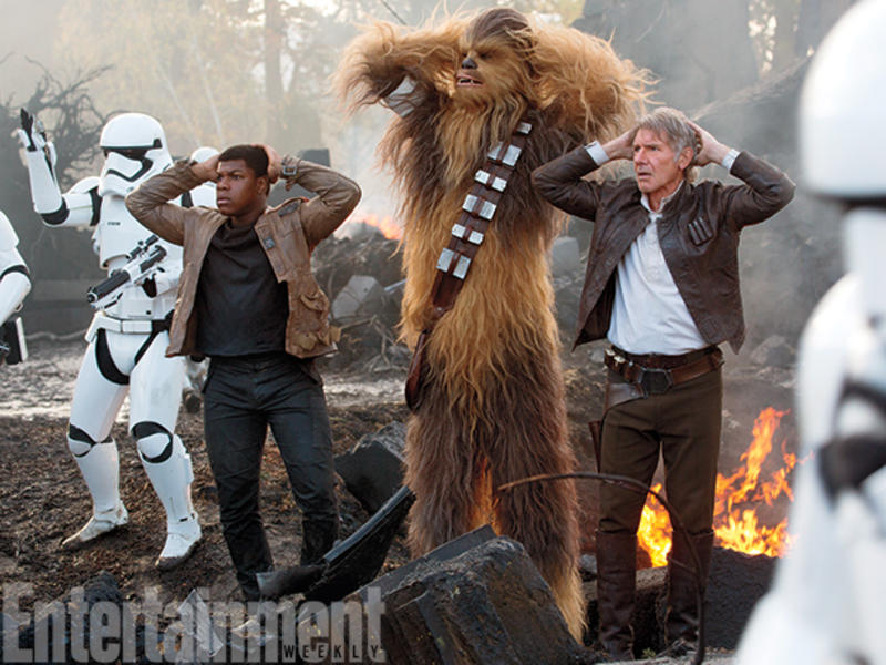 Finn, Chewie y Han