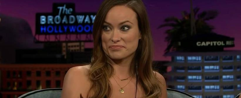 Olivia Wilde en The Late Late Show with James Corden,