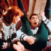Jim Carrey y Lauren Holly en Una Pareja de Idiotas (1994)