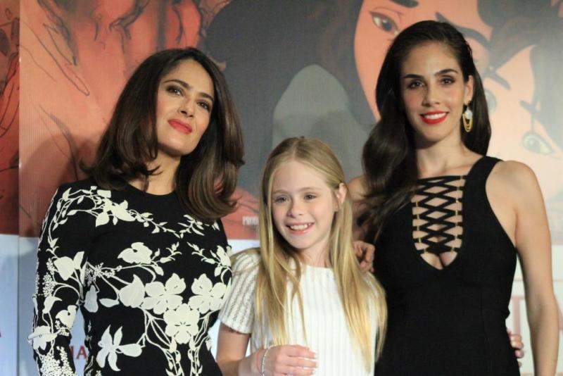 Las tres actrices ofrecieron una conferencia de prensa.