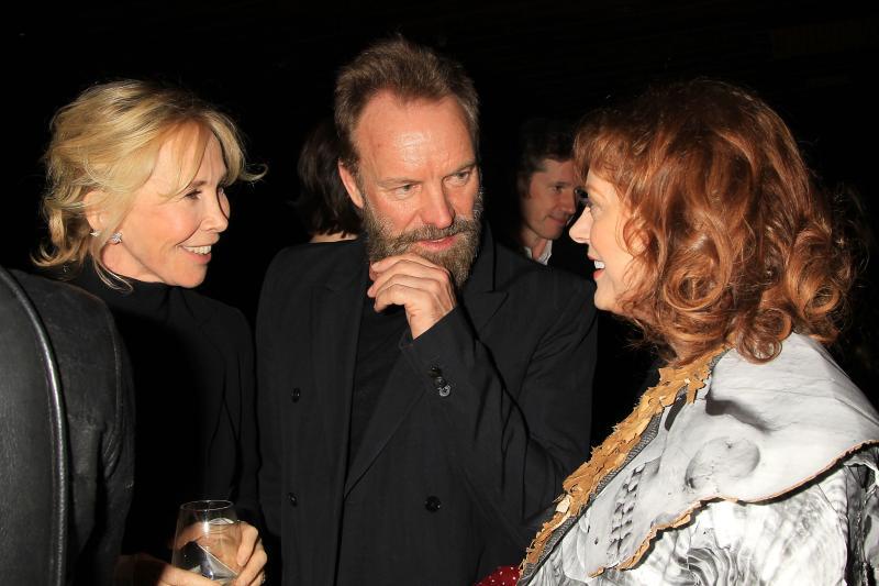 Trudie Styler, Sting y Susan Sarandon