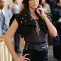 Emily Blunt como la simpática Emily en El Diablo Viste a la Moda