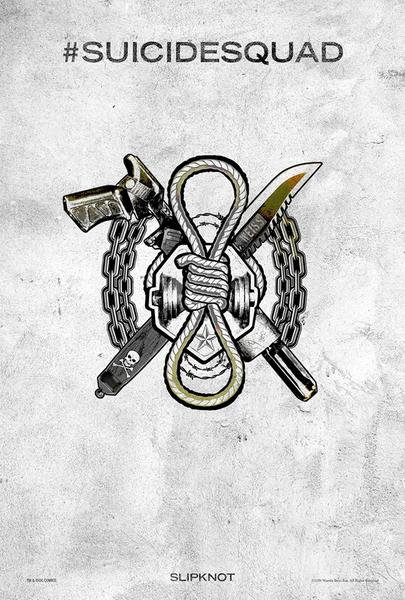 Poster Suicide Squad, Slipknot, Festival SXSW.