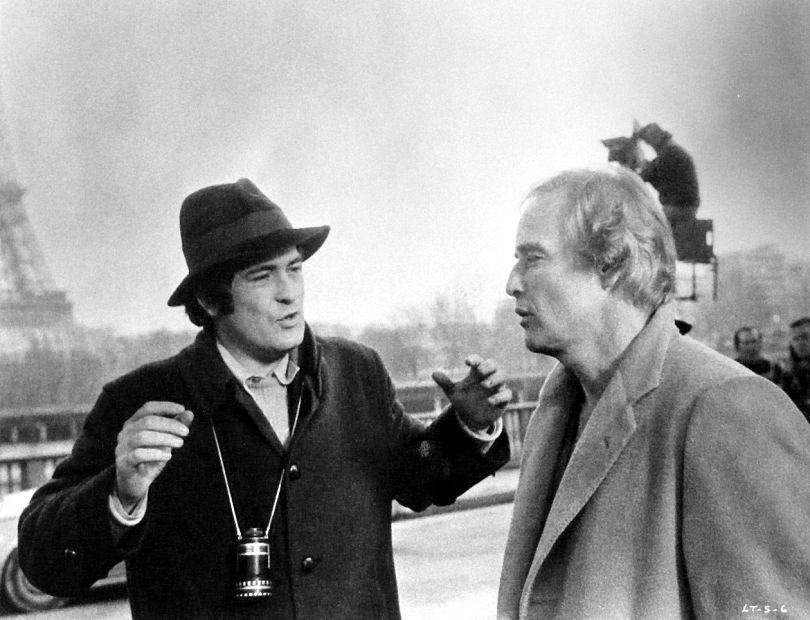 Bertolucci y Marlon Brando en el rodaje de El Último Tango en París