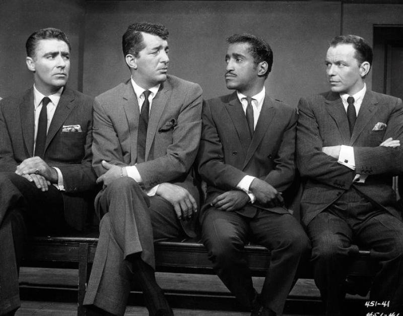 Frank Sinatra, Dean Martin, Sammy Davis Jr. y Peter Lawford en 11 a la Media Noche (1960)