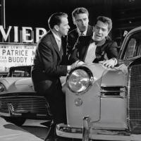 Frank Sinatra, Richard Conte y Peter Lawford en 11 a la Media Noche (1960)