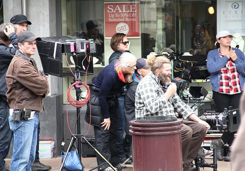 Campion filmando la serie Top of the Lake (2013)