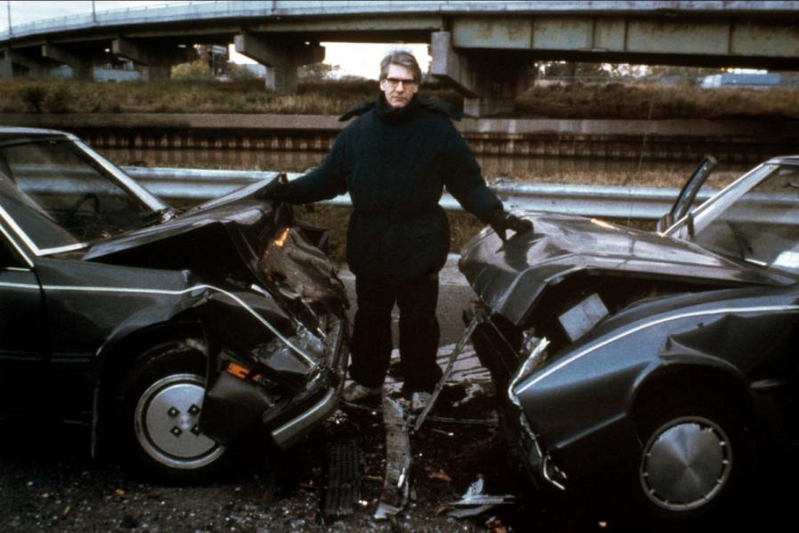 Cronenberg en el set de Crash