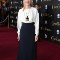 Cate Blanchett al llegar a la premiere de Cenicienta.